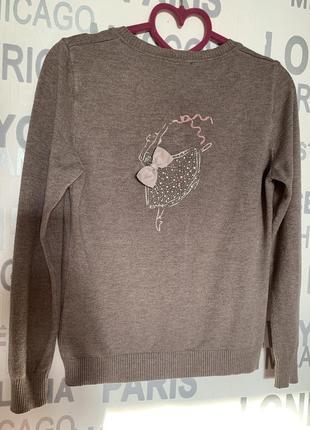 Кофта, свитер, свитшот с кармашками и бантиками.