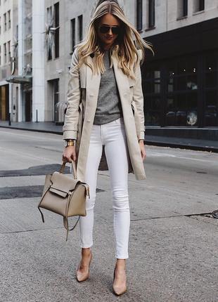 Белые штаны джинсы skinny new look