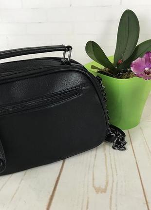 Женская сумка через плечо , женский клатч  на 2 молнии кс127