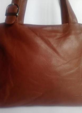 Большая брендовая кожаная сумка gianni conti (италия)