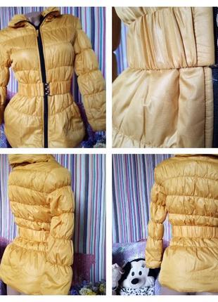 Весенняя курточька,желтл горчичного цвета