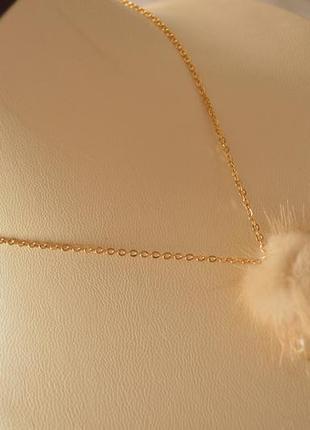 Кулон с сусальным золотом на цепи ′сердце севера′