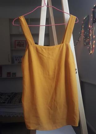 Новая женская летняя майка оранжевая футболка топ поло на лето кофта