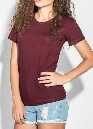 Хлопковая футболка бургундского цвета - fruit of the loom