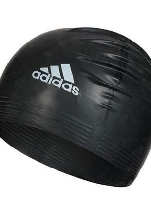 Шапочка для плавания из латекса аdidas, цвет черный