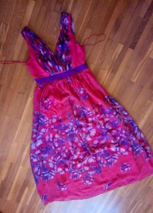 Нова шикарна шовкова сукня максі mango m-l p.