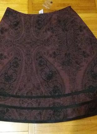 Нарядная весенне-летняя юбка цвет бургунд mandolin размер 18