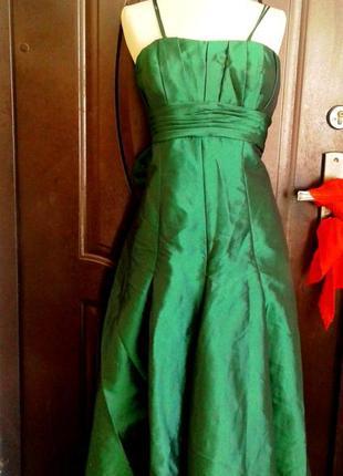 Зеленое шелестящее платье на выпускной, торжество, 3хl.2 фото
