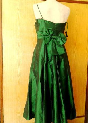 Зеленое шелестящее платье на выпускной, торжество, 3хl.3 фото
