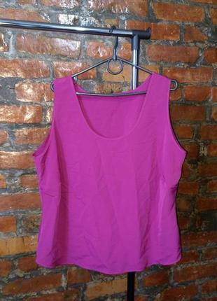 Блуза кофточка топ из мокрого шелка marks & spencer