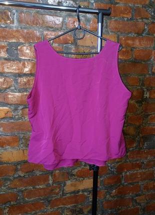 Блуза кофточка топ из мокрого шелка marks & spencer2 фото