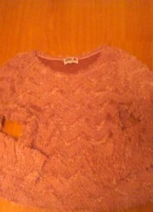 Нежная персиковая кофта травка