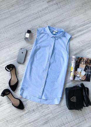 Голубая рубашка hm