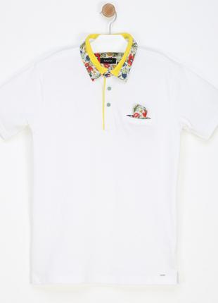 Новое, белое поло fun & fun, италия. 95% хлопок, 5% эластан (футболка, тенниска)