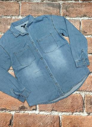 Джинсовая рубашка на девочку 152/158