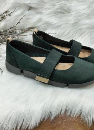 Кожаные туфельки балетки clarks trigenic ( 37 размер )