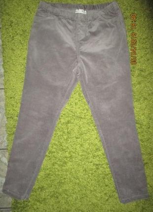 Casualwear*14*микро вельветовые на резинке джинсы,пот-40-48см