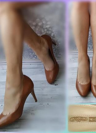 41р кожа!новые англия buffalo коричневые туфли ,лодочки