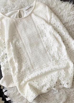 Белая кружевная блуза от oasis