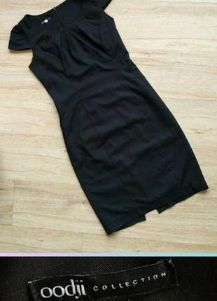 42-44 oodji строгое,классическое черное платье ,миди3 фото
