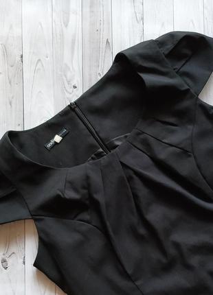 42-44 oodji строгое,классическое черное платье ,миди2 фото