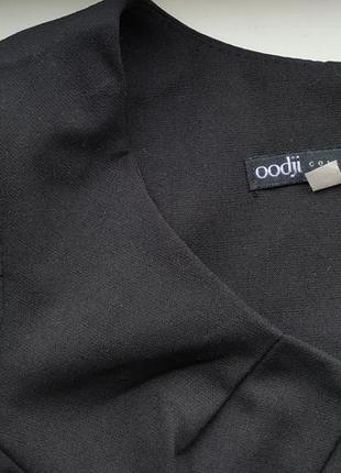 42-44 oodji строгое,классическое черное платье ,миди4 фото