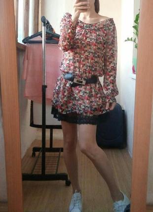 Длинная блуза туника-платье4