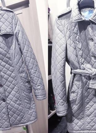 Стьобане пальто feraud у клітинку / стеганое пальто feraud в клеточку