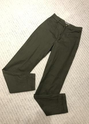 Классные штаны с высокой посадкой