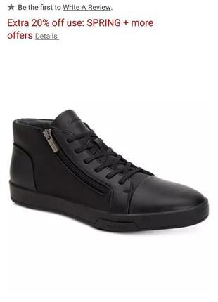 Новые кожаные ботинки туфли кеды kelvin clein 43 размер {наш}