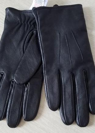 New look  кожаные женские  перчатки  m/l