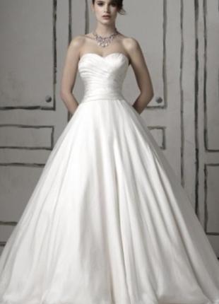 Свадебное шелковое платье justin alexander