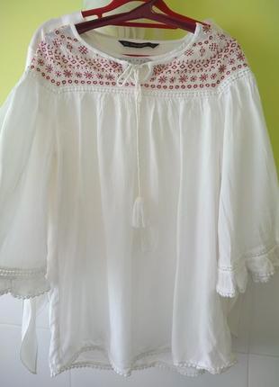 Рубашка свободного кроя  с вышивкой от nutmeg2 фото