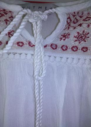 Рубашка свободного кроя  с вышивкой от nutmeg3 фото