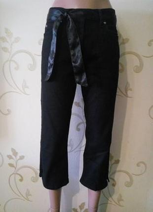 Esprit . черные укороченные джинсы штаны брюки капри бриджи .