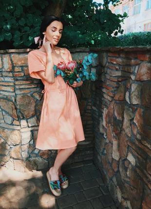 Платье сукня плаття лето літо льон лён