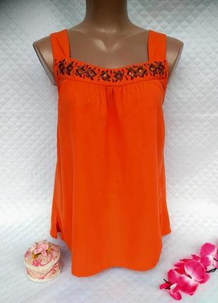 Красивая блуза свободного с бисером размер 40-42 (10-12)