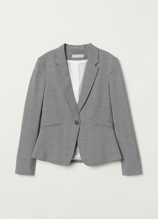 Стильный пиджак вклетку/гусиная лапка/блейзер приталенный