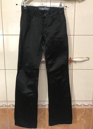 Джинсы чёрные высокая посадка джинсы штаны чёрные