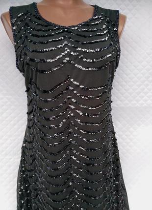 Красивое нарядное платье в пайетках размер (42-44)5 фото