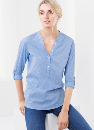 Воздушная звездная блуза от бренда tcm tchibo. германия! оригинал!