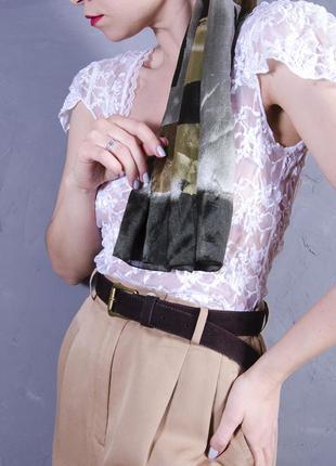 Кружевная блуза белая, прозрачная блуза с коротким рукавом, летняя блузка белая