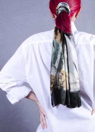 Шифоновый платок с принтом, шифоновый шарф atmosphere
