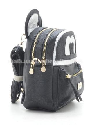 Рюкзак с ушками на два отделения 174 черный2 фото