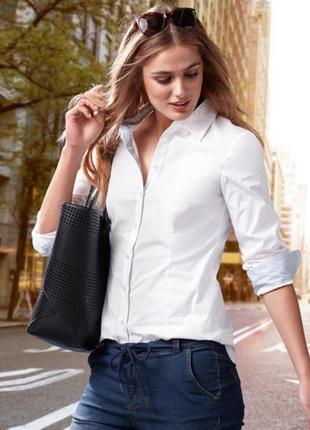 Шикарная белая рубашка от тсм германия. оригинал!