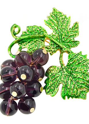 Брошь виноградная лоза, в наличии. брошь виноград, брошь ветка