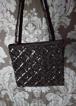 Вечерняя сумочка маленькая клатч расшита бисером