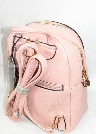 Рюкзак в городском стиле на два отделения 173 розовый2 фото