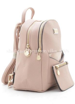 Рюкзак в городском стиле на два отделения 173 розовый3 фото