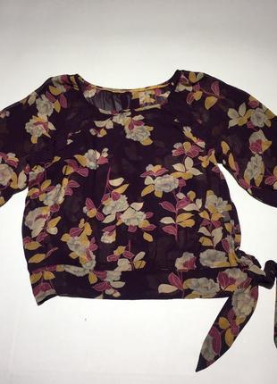 100% шелк!!! шелковая блуза с декором из кружева размер м/10/38.